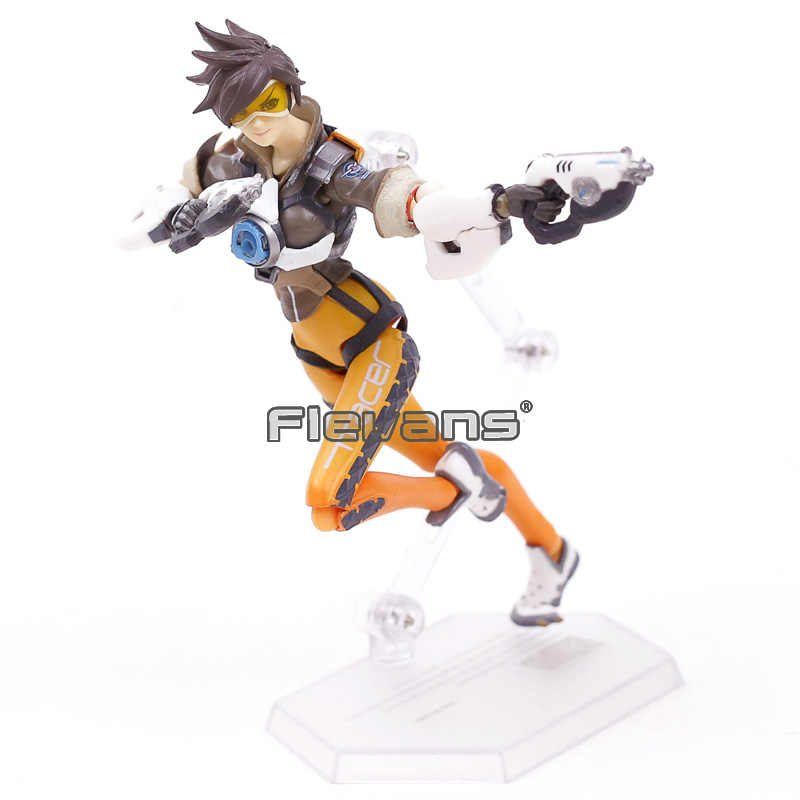 Figma 352 Jogo OW Caráter Tracer PVC Action Figure Collectible Modelo Toy