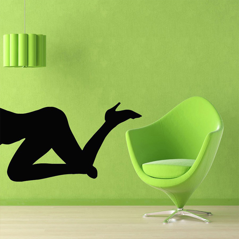 Wall Stickers Vinyl Decal Sexy Naked Nude Girl In Lingerie Super Decor For Bedroom