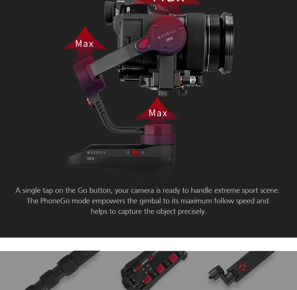 Zhiyun WEEBILL LAB 3-Axis OLED Display Stabilizer For Sony Panasonic GH5s Mirrorless Camera Handheld Gimbal With Focus Control 14