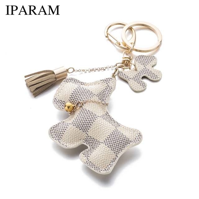 IPARAM fashion cute purse pu dog keychain can be used for car key accessories bag accessories
