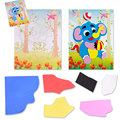 1PC Elephant Patterns 3D Puzzle Stickers Diy EVA Manual Stickers Drawing Paper Toys For Kids Creative sticker Educational Toy