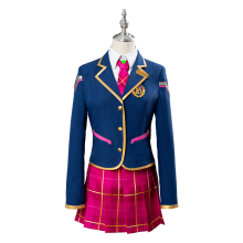 цена на Anime OW cosplay Youth campus D.va dva school uniforms Cosplay Costume DVA Shirt coat students skirt A