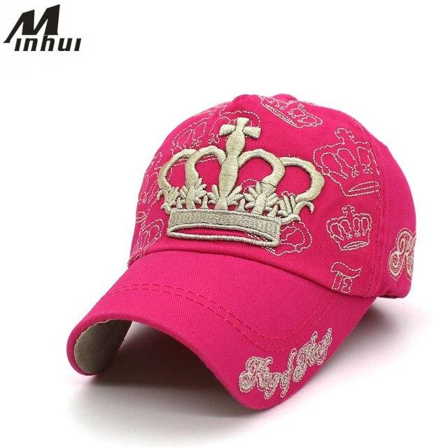 Minhui bordado corona gorras de béisbol padre niño gorra niños snapback  gorras para mujeres hombres chica 95b36e870d0