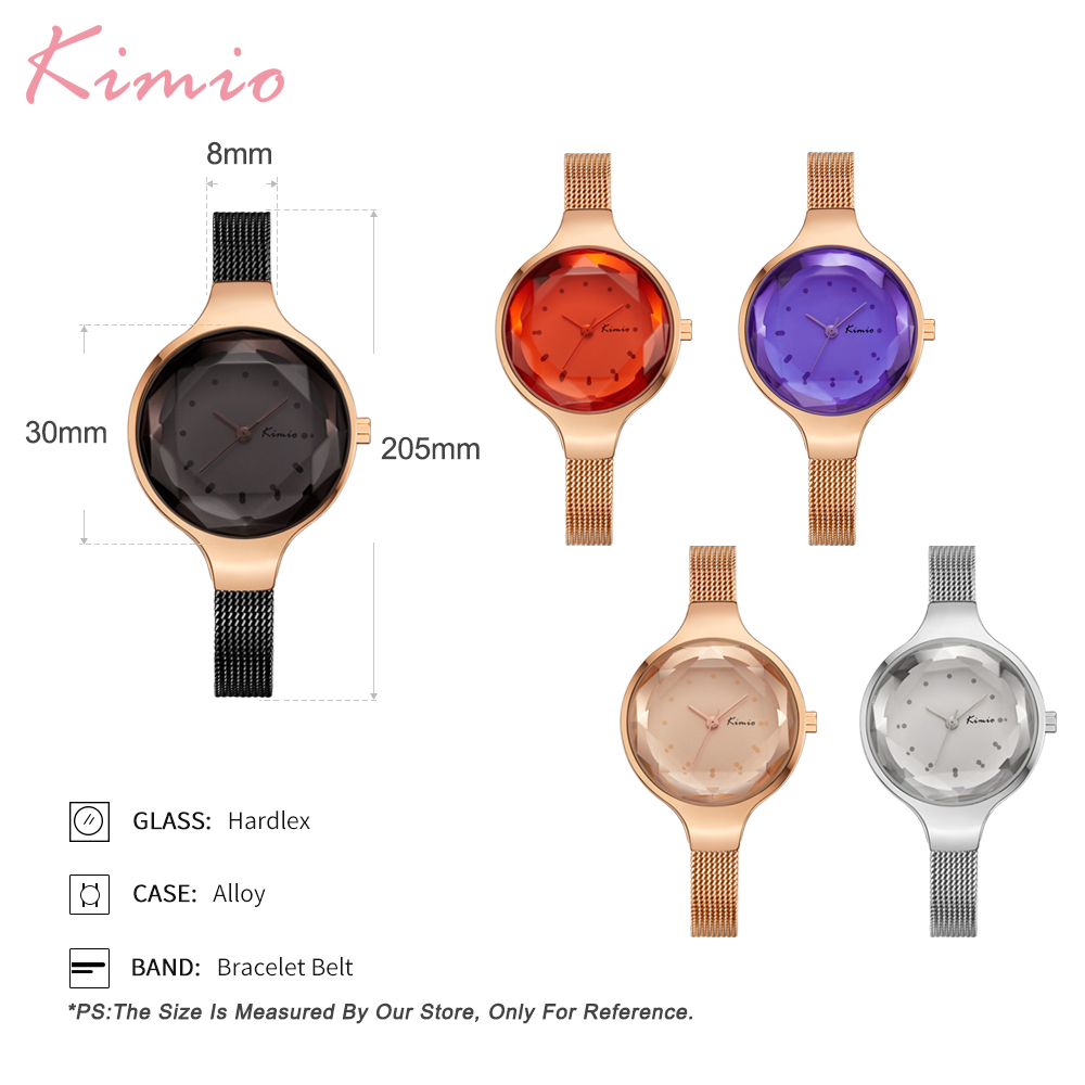 Kimio Simple Fashion Armband Dames Horloges Roestvrij Staal Mesh Riem - Dameshorloges - Foto 5