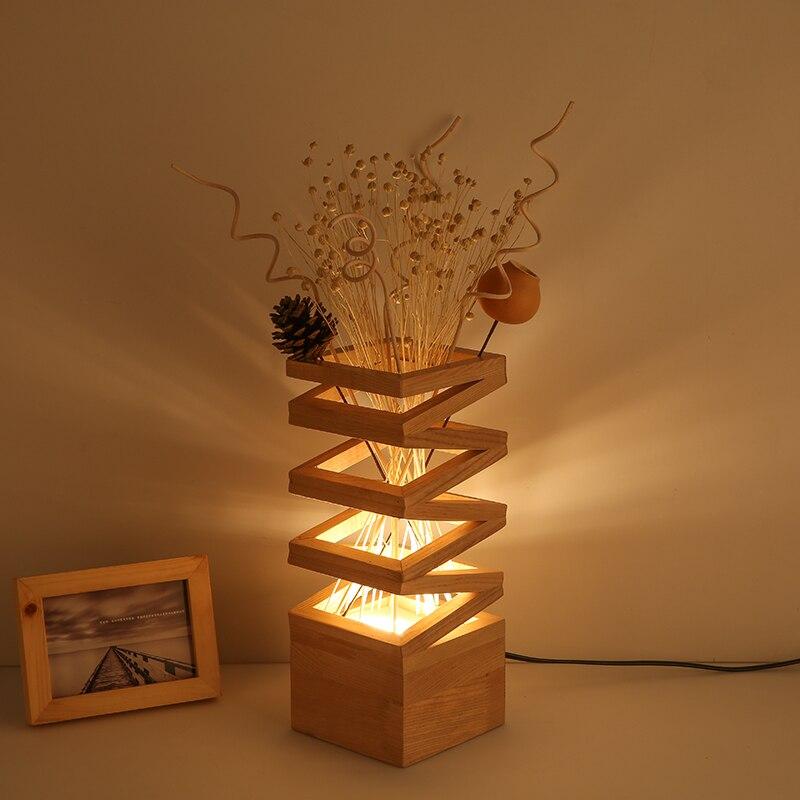 Creative Simple Desk Lamp Decorative Logs Warm Romantic Bedroom Bedside Living Room Study Modern LED Table Lamp