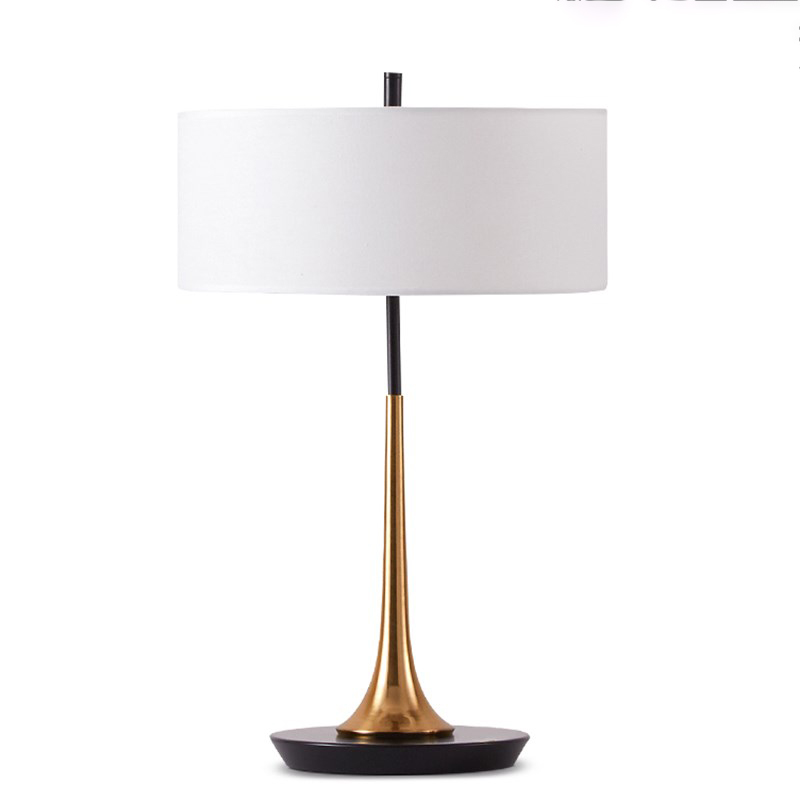 New classical table lamp gold and black lamp body for - Black table lamps for living room ...