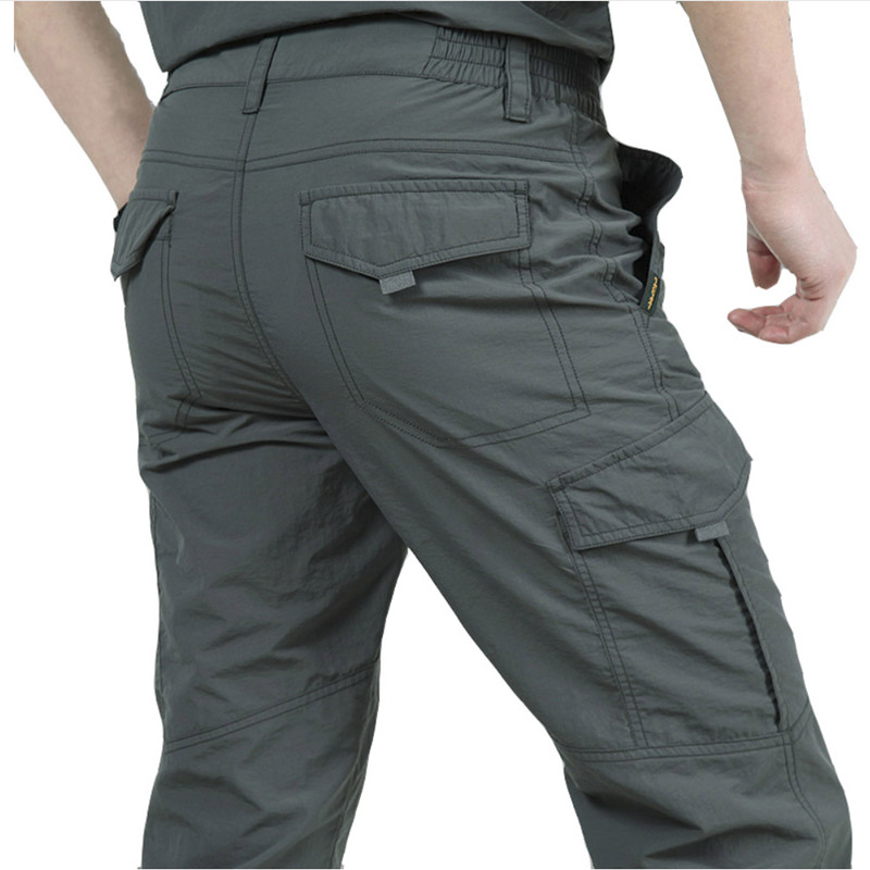 Quick Dry Summer Casual Pants Men Army Military Trousers Men's Tactical Cargo Pants Male Lightweight Stretch Flexible Trousers