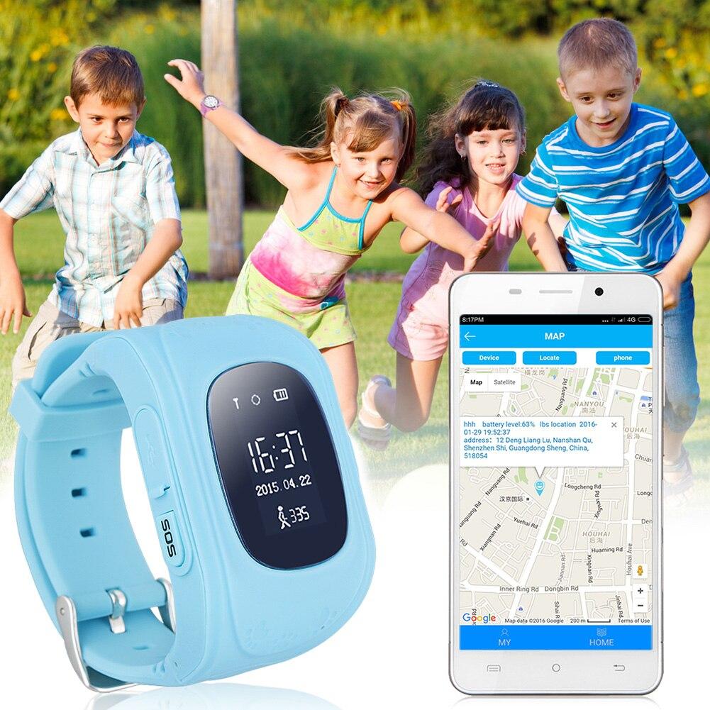 imágenes para Q50 GPS GSM GPRS Reloj Inteligente Niño Chico Inteligente Localizador Rastreador Anti-perdida Smartwatch Inteligente Muñequera Monitor Remoto con caja