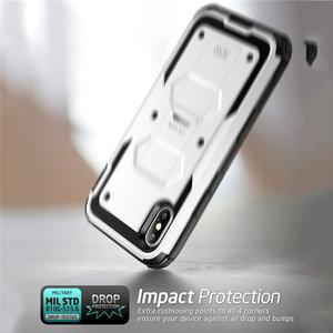 Image 3 - Için iphone X Xs Kılıf i Blason Armorbox Tam Vücut Ağır Şok Azaltma Kapak ile inşa Temperli cam Ekran Koruyucu