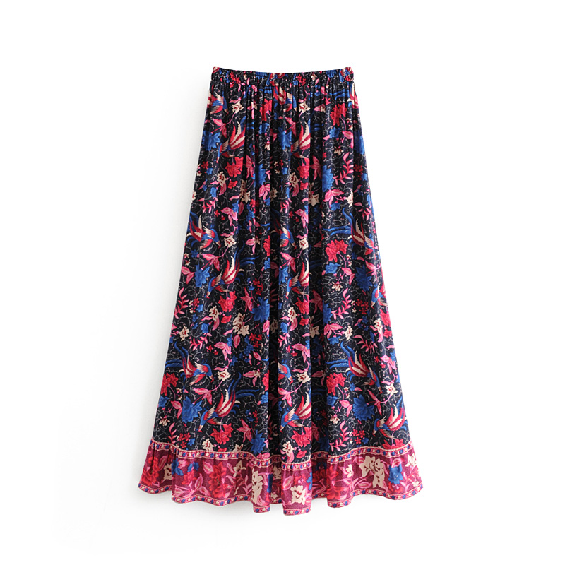 Chic Beach Skirts Floral Print Summer Time Skirts