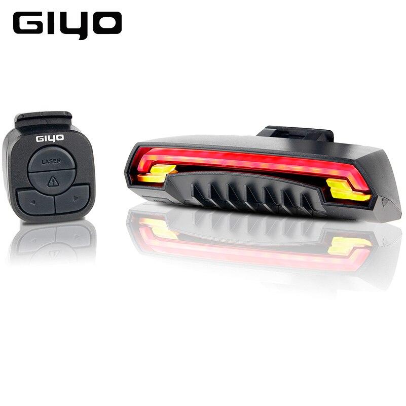 GIYO Bicycle Turn Signals Light Bike Rear Tail Light Laser USB Rechargeable Mount LED Bike Light Cycling Lanterna Bicycle Lamp
