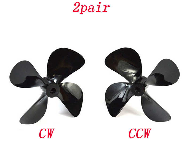 US $10 25 |2pair DIY Tugboat Accessories 48mm 3 blade CW CCW Propeller 55mm  4 blade CW CCW Paddle Hole Dia 4mm PC Plastic Parts for RC Bait-in Parts &