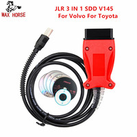 Hot Newly OEM Car Diagnostic Cable for JLR 3 IN 1 SDD V145 For Volvo 2014D For Toyota V10.10.018 TIS Techstream Free Shipping
