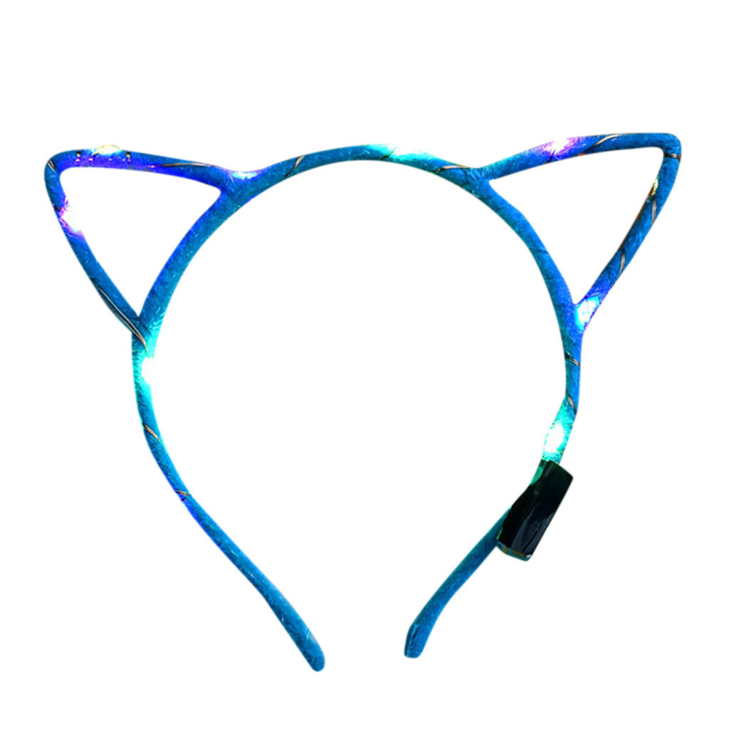 Headband LED Club Party Concert Light Up Cute Rabbit Ear Flexible Hairband