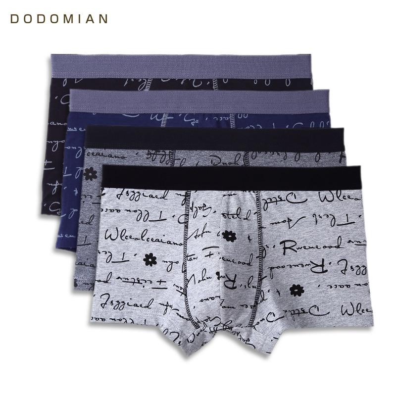 DODOMIAN 4pcslot Male Underwear New Letter Print Men Underpants Cotton Sexy Comfort Boxe ...