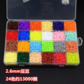 Набор детских насадок-пазлов 13000 perle  Хама  бисер 2 6 мм  24 цвета  для самостоятельной сборки