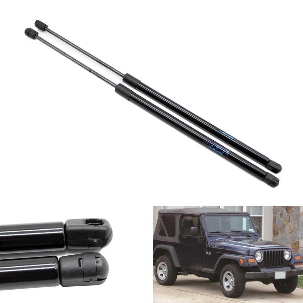 2 հատ հատ Auto Rear Window Gas Struts Shock Struts Lift- ը տեղավորվում է Jeep Wrangler TJ Series 1997-2006 645MM հետևի ձախ և աջ