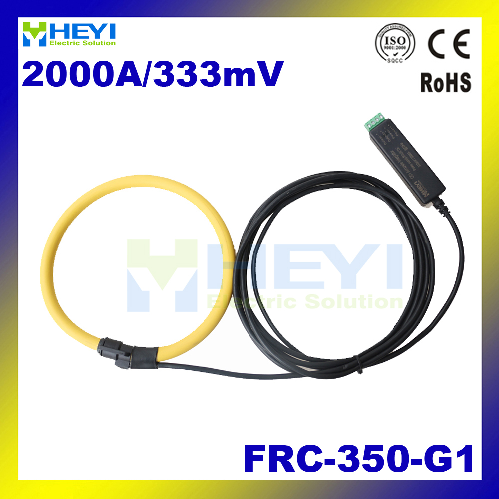 цена на Yellow Split Core ac current measurement Input : 1~2000A Output : 333mV flexible rogowski coil ct rope with integrator