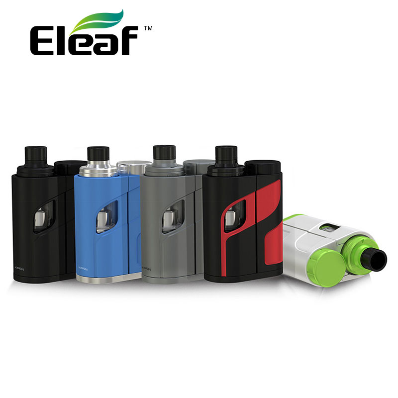 100% Original 50 W Eleaf Kit iKonn Total Sem Bateria/iKonn Total MOD e Ello Mini Atomizador 2 ml/All-Nova Série HW Bobinas