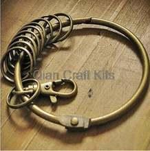 10 шт 24 дюймов 3 Большой античная бронза ретро Стиль кольцо