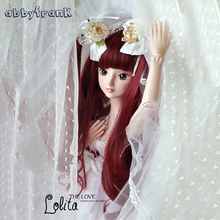 Abbyfrank 60cm Large BJD Doll font b Toys b font Cosplay Rapunzel Dress Wig Clothes Shoes