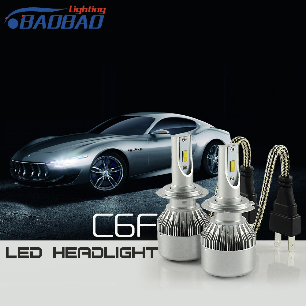 ФОТО Super Bright top quality H7 3800lm led headlight for car,12V 36w easy install with strong fan