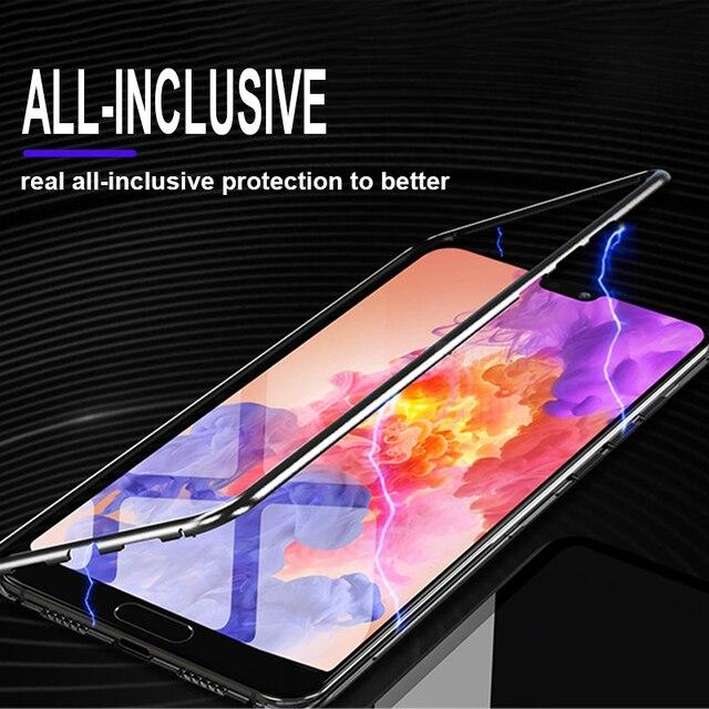 De lujo de 360 grados de protección imán caso en el para Huawei P20 Pro P20 a prueba de golpes caso de Huawei P20 Lite caso de parachoques