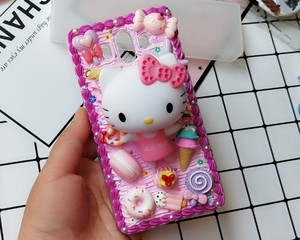 Image 3 - New For iphone  8/ 7 plus DIY case 3D KT cat phone cover for iphone 7 /6 6s plus handmade candy case girl gift for iphone X