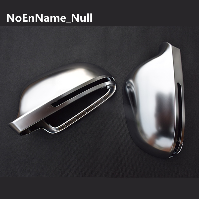 1 pair For Audi A3 S3 8X 08 A4 S4 B8 S5 A5 S6 A6 Q3 matt chrome Silver mirror case rearview mirror cover shell mirror silver chrome vespa open face