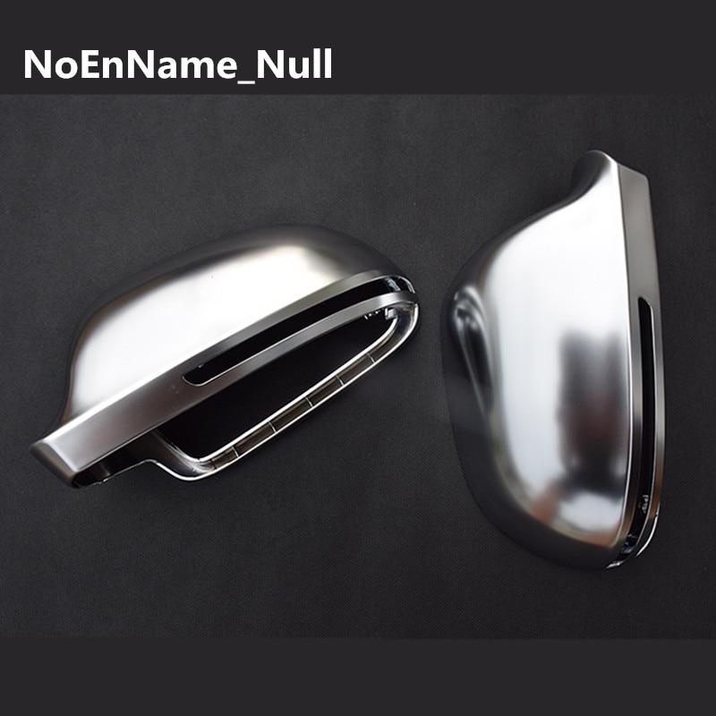 Matt Chrome Mirror Cover Rearview Side Mirror Cap S Line For Audi A4 B8 A6 C6 A5 8T Q3 A3 8P