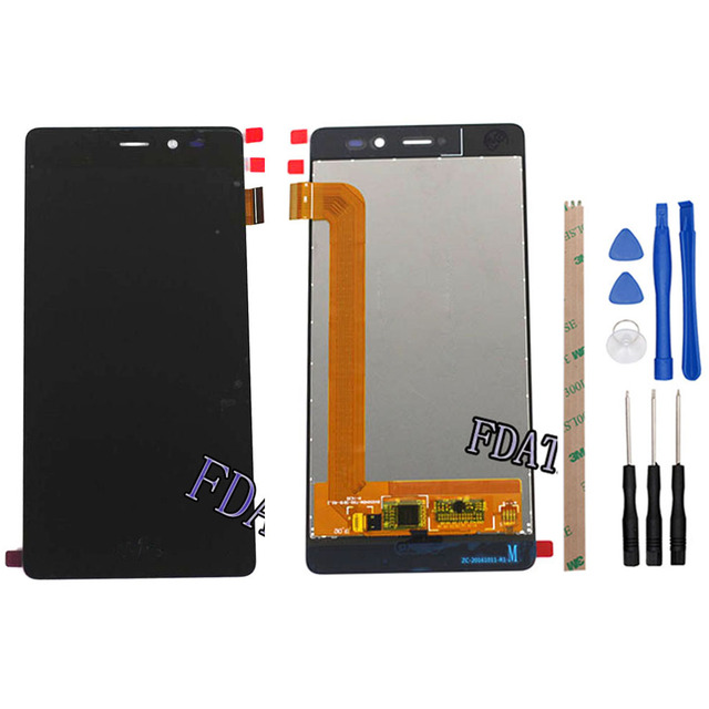 For Wiko Tommy LCD Display and Touch Screen Digitizer Assembly lcds 5.0 inch Touchscreen For Wiko Tommy +Tools+Adhesive
