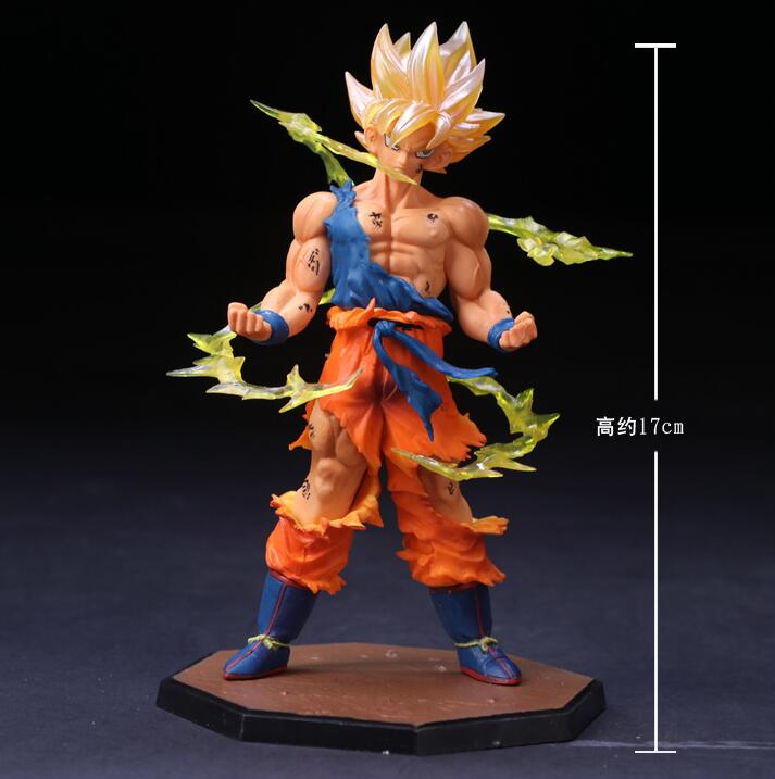 Dragon Ball Z Super Saiyan 17cm Son Goku Gokou Boxed PVC Action Figure Model Collection Toy Gift Dragonball Evolution Toys 16cm anime dragon ball z goku action figure son gokou shfiguarts super saiyan god resurrection f model doll