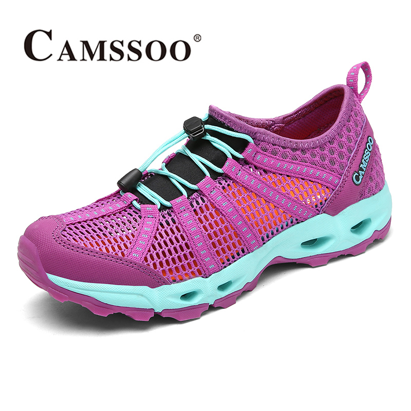 2017 Camssoo Womens Water Shoes Breathable Mesh Aqua Shoes Quick Dry Outdoor Sports Shoes For Female Free Shipping 6056  2017 clorts womens water shoes summer outdoor beach shoes quick dry breathable aqua shoes for female green free shipping wt 24a