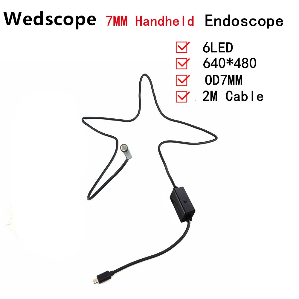 Android Phone Micro USB Endoscope Camera 7mm Lens 6LED Portable OTG USB Endoscope 2M USB Android Phone Borescope 1m 2m micro usb endoscope camera 7mm lens otg android endoscope 720p waterproof snake cameras android phone 6 led