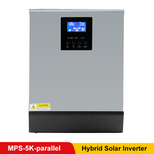 5KVA Pure Sine Wave Hybrid Inverter 48VDC Input 220VAC Output with MPPT Solar Panel Battery Charge Regulator Parallel Kit Inside mkp4000 481b 48vdc input 4000 watt pure sine wave single output 120vac power inverter solar 4kva inverter for house