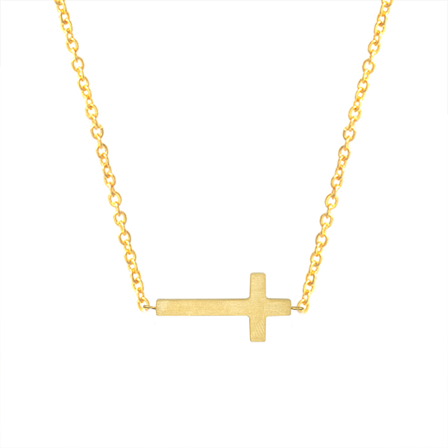 Bohemia jewelry gold silver color tiny sideways cross pendant bohemia jewelry gold silver color tiny sideways cross pendant necklaces stainless steel chain charm choker necklace mozeypictures Images