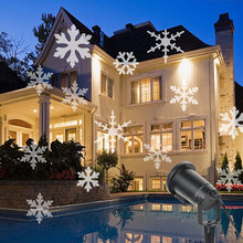Snow Laser Projector Christmas Lamps LED Stage Light 2 Colors Snowflake For New year Party Garden Outdoor Childhood Winter WR(China)
