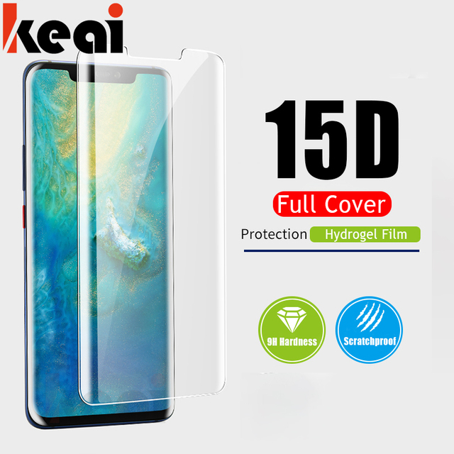 15D Full Protective Hydrogel Film For Huawei P Smart 2019 2018 Screen Protector On The For Huawei P30 Mate 20 Pro Lite Soft Film
