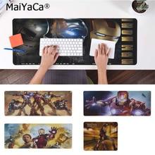 MaiYaCa Top Quality iron Man Unique Desktop Pad Game Mousepad Free Shipping Large Mouse Keyboards Mat