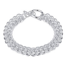 Wholesale Trendy Women Male Little Multi-circle Link Chain Silver Kors TO Bracelet Femme Homme Bijouterie For Party Jewelry