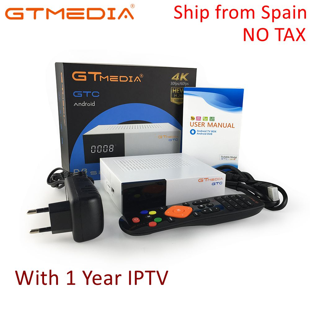 Image 1 - GTmedia GTC Receptor DVB S2 DVB C DVB T2 ISDBT Amlogic S905D android 6.0 TV BOX 2GB 16GB Satellite 1 Year IPTV Receiver TV Box-in Satellite TV Receiver from Consumer Electronics