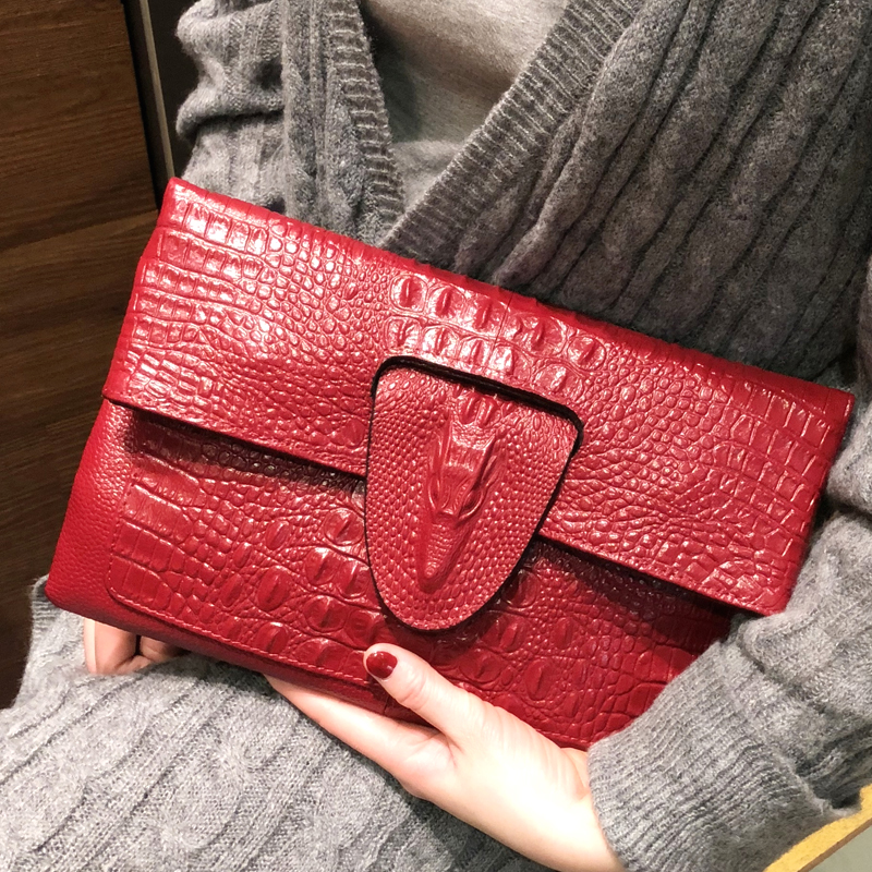 DOYUTG Women Envelope Clutch Bags Crocodile Head Day Clutch Lady Real Cow Leather Shoulder Bag Crossbody Purses Wedding Bag A227DOYUTG Women Envelope Clutch Bags Crocodile Head Day Clutch Lady Real Cow Leather Shoulder Bag Crossbody Purses Wedding Bag A227