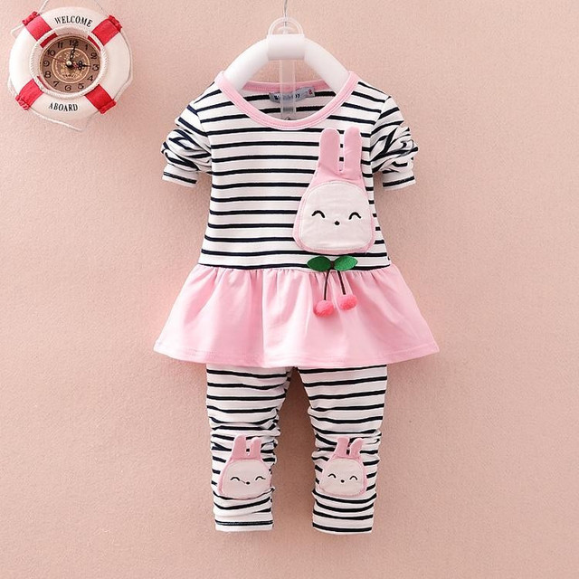 c649fd8c6 BibiCola Kids Spring Autumn Clothing Sets Baby Girls clothesToddler  children suit Outfits tshirt+Pants Cotton underwear Clothes