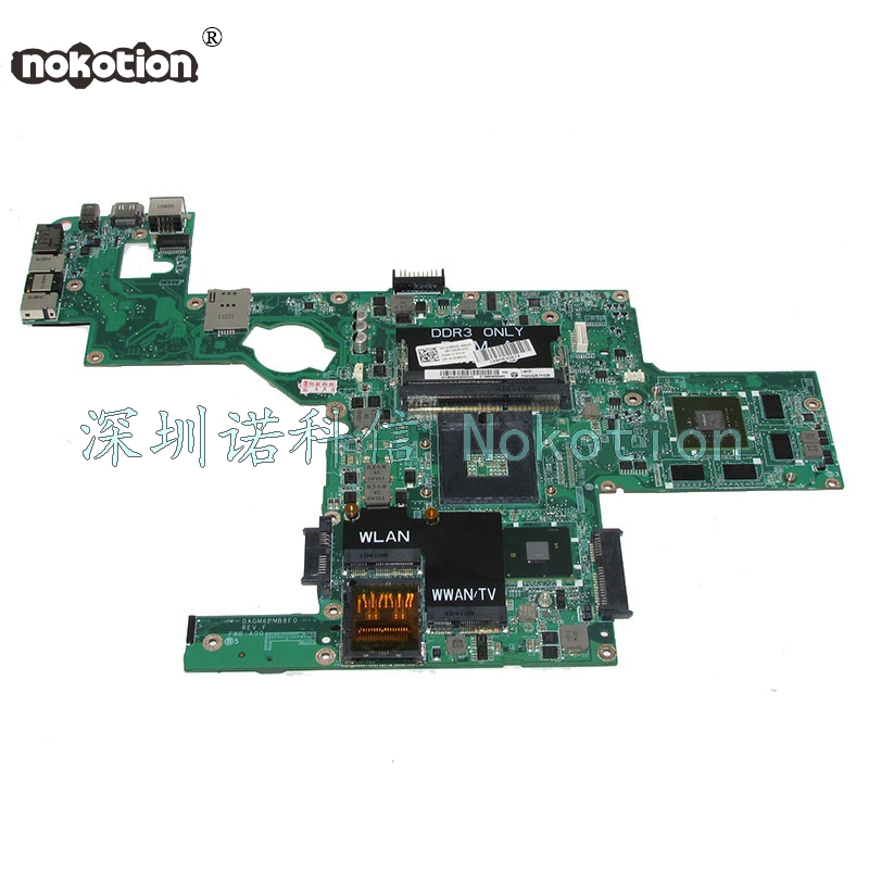 NOKOTION DAGM6BMB8F0 CN-0C9RHD 0C9RHD For XPS 15 L501X laptop motherboard GT420M HM57 DDR3 full works laptop speaker for dell xps l502x l501x left and right set subwoofer speakers