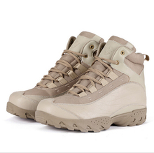 2015 Military Boots outdoor Desert Tan combat army boots Tactical Police boot 2 colors size39-45