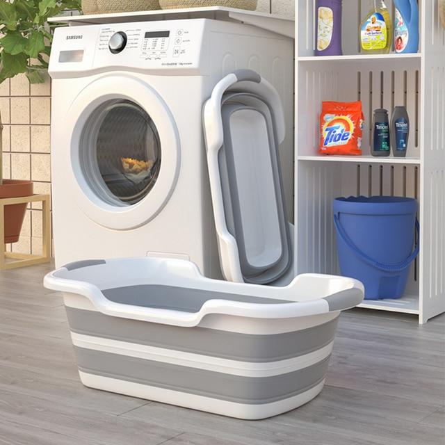 Baby Shower Portable Silicone Pet Bath Tubs Bath Accessories Baby Folding Non-Slip Bathtub Safety Security Cat Dog Bath Tubs 3