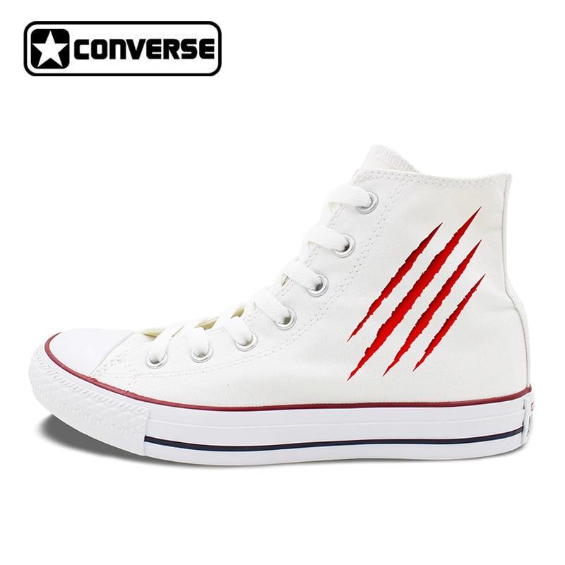 Men Converse Chucks Shoes Scratch Blood Wound Original Design Canvas Sneakers Skateboarding Flats High Tops