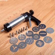 Biskuithersteller Cookie Form Cookie Presse Pistole Maschine Kuchen Dekor 13 Cookie Presse Formen & 8 Backwaren Friedliche Düsen Cookie Werkzeug