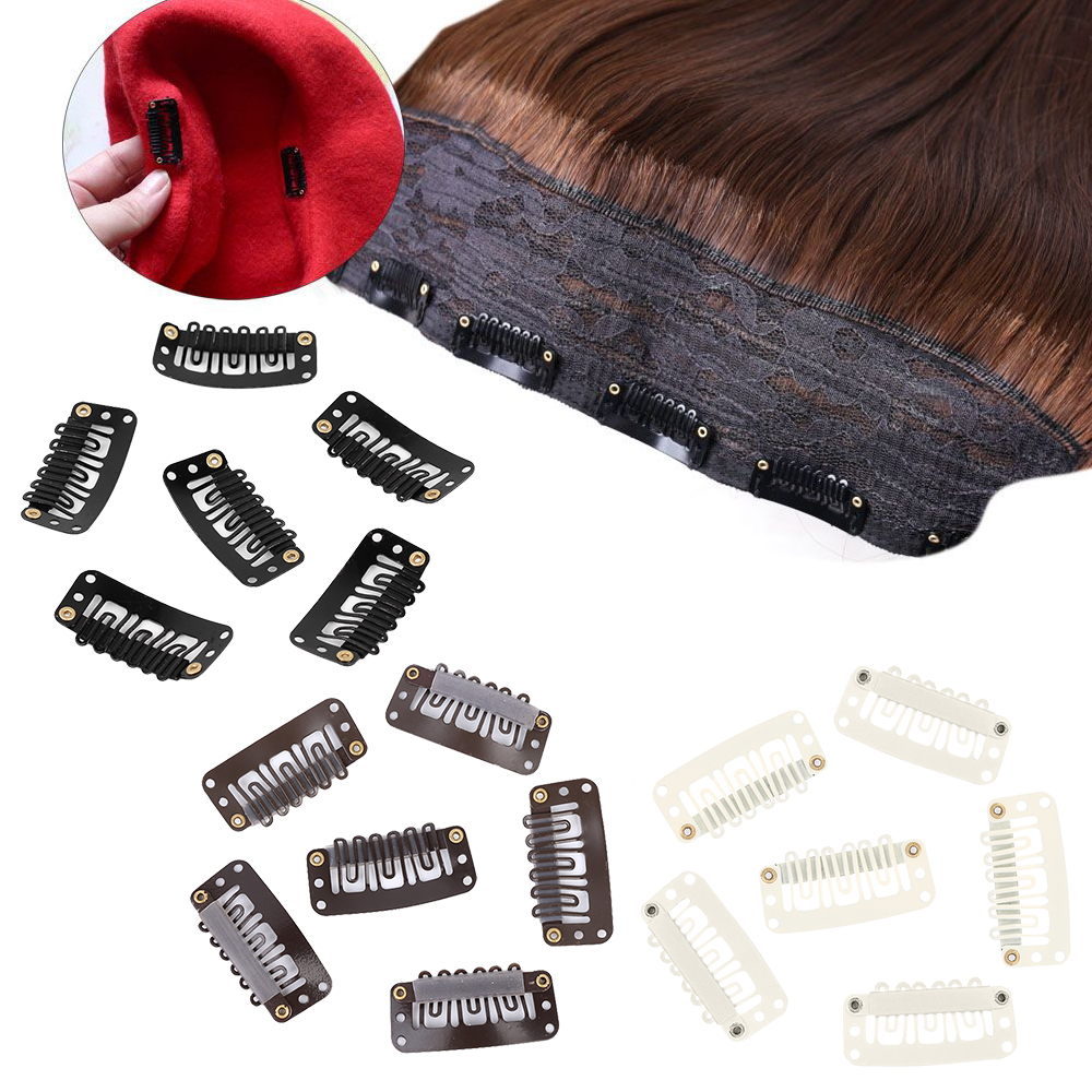 20 Pcs Metal U-Shape Wigs Extension Fixed Hair Snap Clips 32mm/28mm/24mm Holder Hairpins Barrettes For Women Hair Accessories