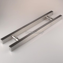 купить 1PCS Brushed 304 stainless steel glass door handle shopping mall gate knob Length 600mm/800mm/1000mm JF1683 дешево